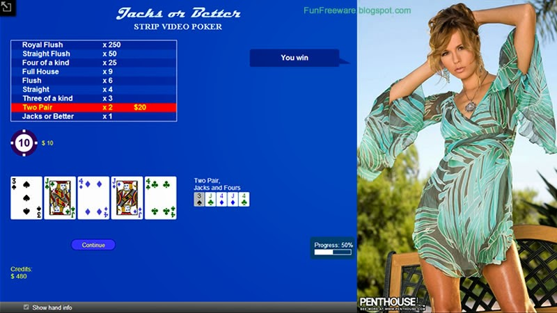 Strip Video Poker Freeware Screenshot