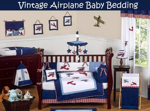 Sweet Jojo Designs Airplane Baby Bedding