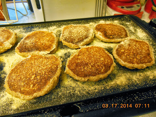 Easy Drop Sourdough English Muffins from Our Sunday Cafe