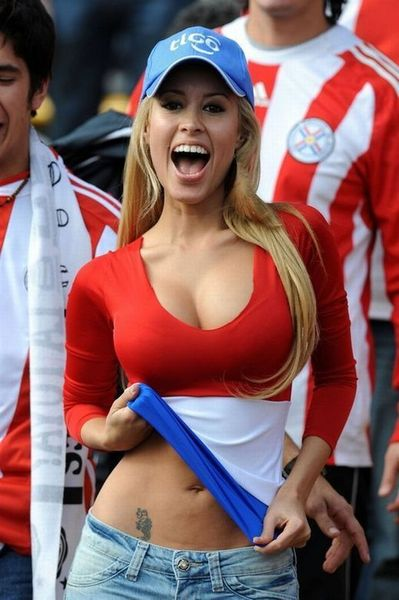 Another Sexy and Cute Paraguay Soccer Fan