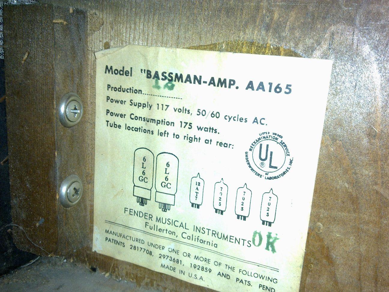 Paul P S Amps Ab165 Bassman Refurbishment Amp Modification
