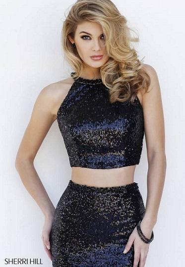 mujer moda y arte cropped top o conjunto dos piezas de fiesta 2016