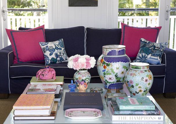 Delorme Designs NAVY AND PINK