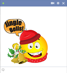 Jingle Bells Smiley for Facebook