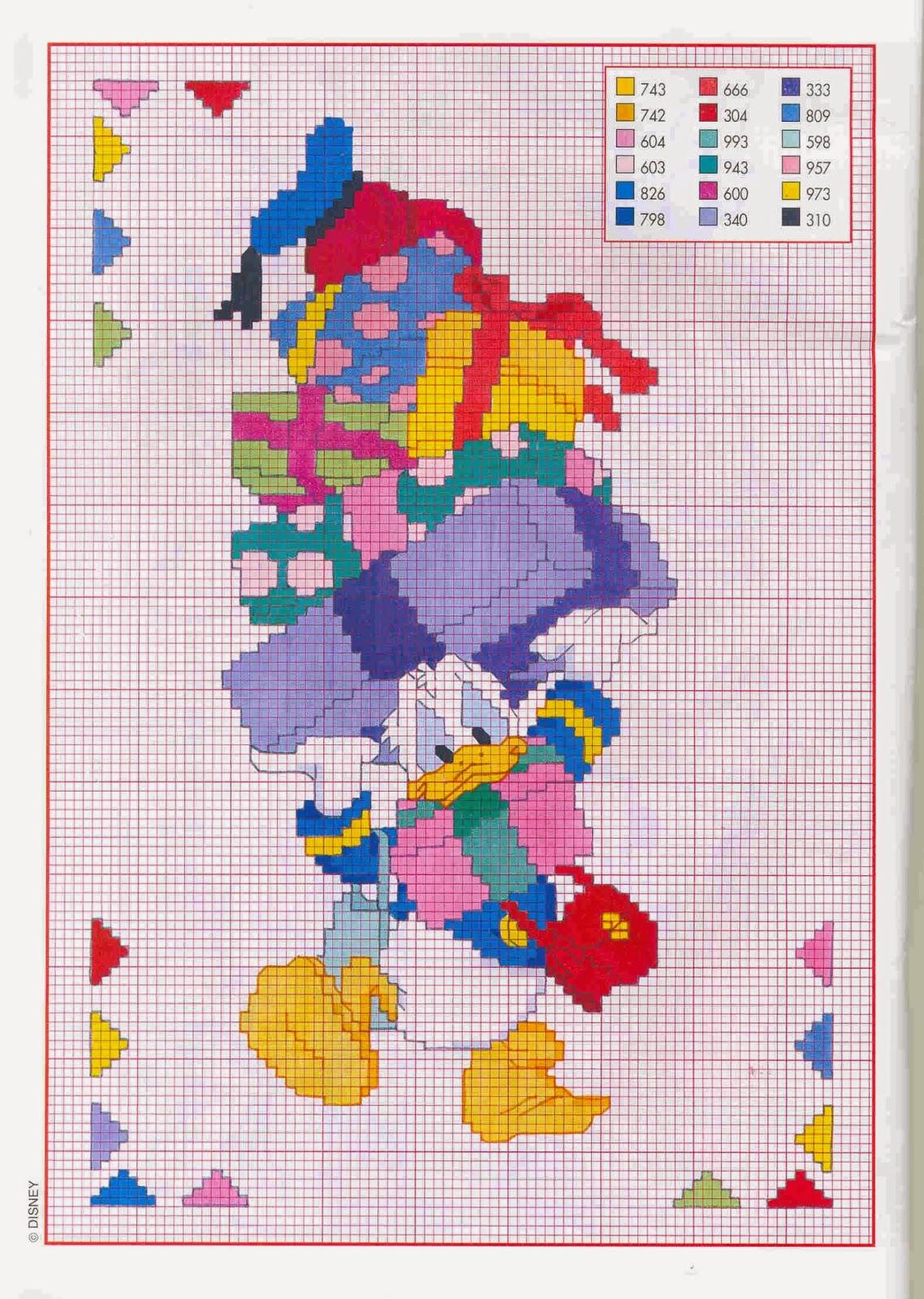 Grande raccolta di schemi e grafici per punto croce free for Immagini disney punto croce