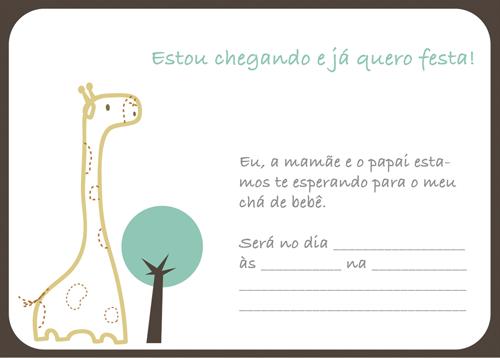 Convite para chá de bebê para imprimir 13