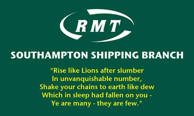 RMT Southampton Shipping branch