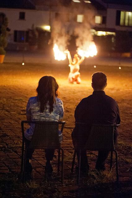 matrimonio con lo sponsor chiara e maurizio spettacolo di fuoco