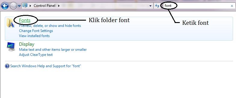 Instal Font