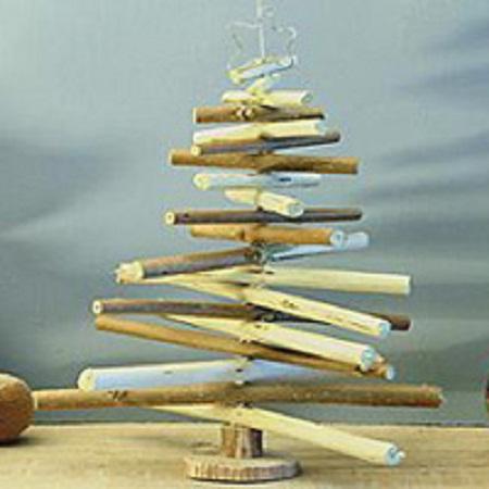 10 ideas para hacer rboles de navidad - Arbol de navidad artesanal ...
