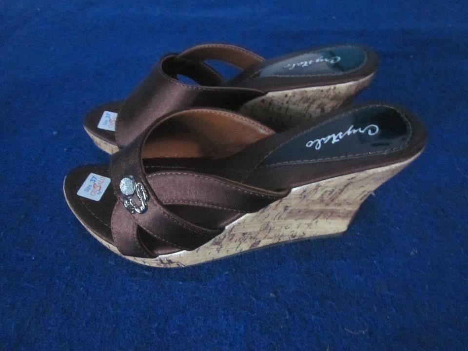 sandal wedges model terbaru