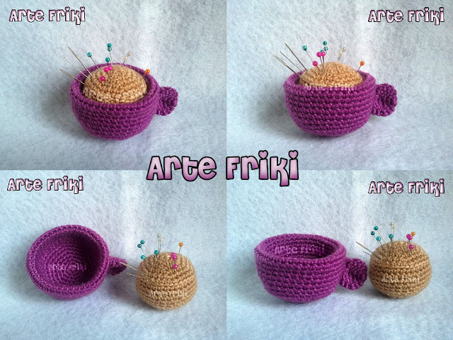 taza café cup coffee amigurumi crochet ganchillo plush alfiletero