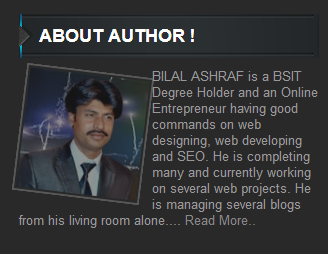 Beautiful About Author Widget For Blogger !