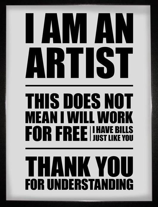 Jestem artystą....