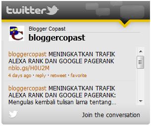 Twetter Blogger Copast