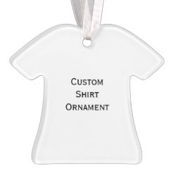 Custom Shirt Photo Acrylic Christmas Ornament