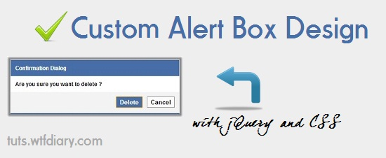 Facebook style custom Alert box design CSS and jquery