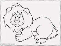 baby lion jungle animal coloring pages