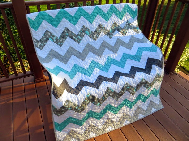 The Way I Sew It: Chevron Baby Quilt No. 2
