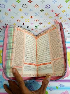 gambar tampak dalam al-quran yasmina rainbow tajwid zipper cover jaket