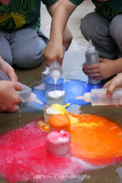 Making rainbow eruptions