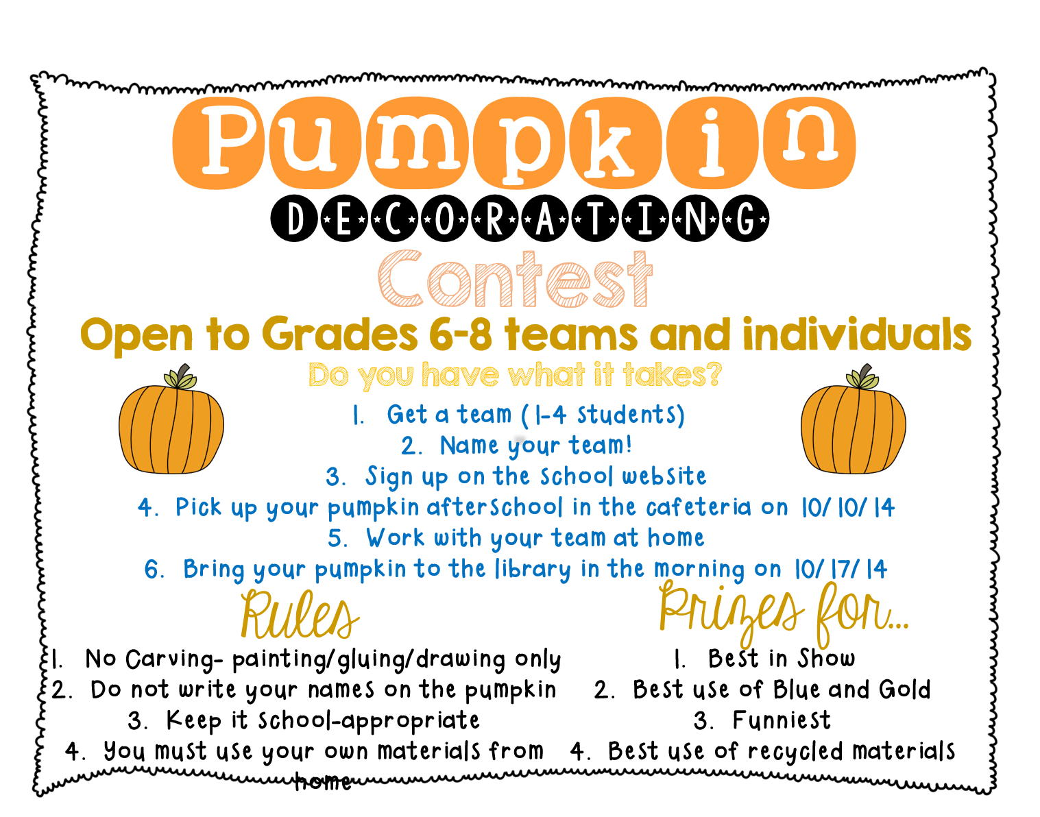 How to plan a pumpkin decorating contest everyone deserves to learn edsl pronofoot35fo Images