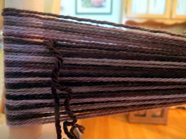 weaving, handspinning, handspun scarf