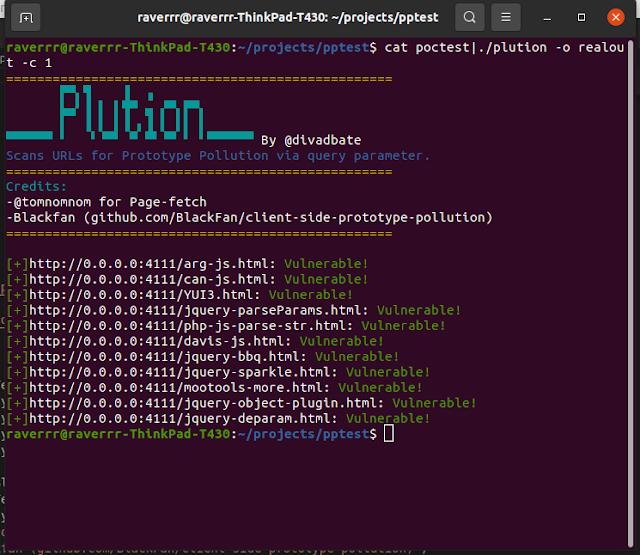 Plution – Prototype Pollution Scanner Using Headless Chrome