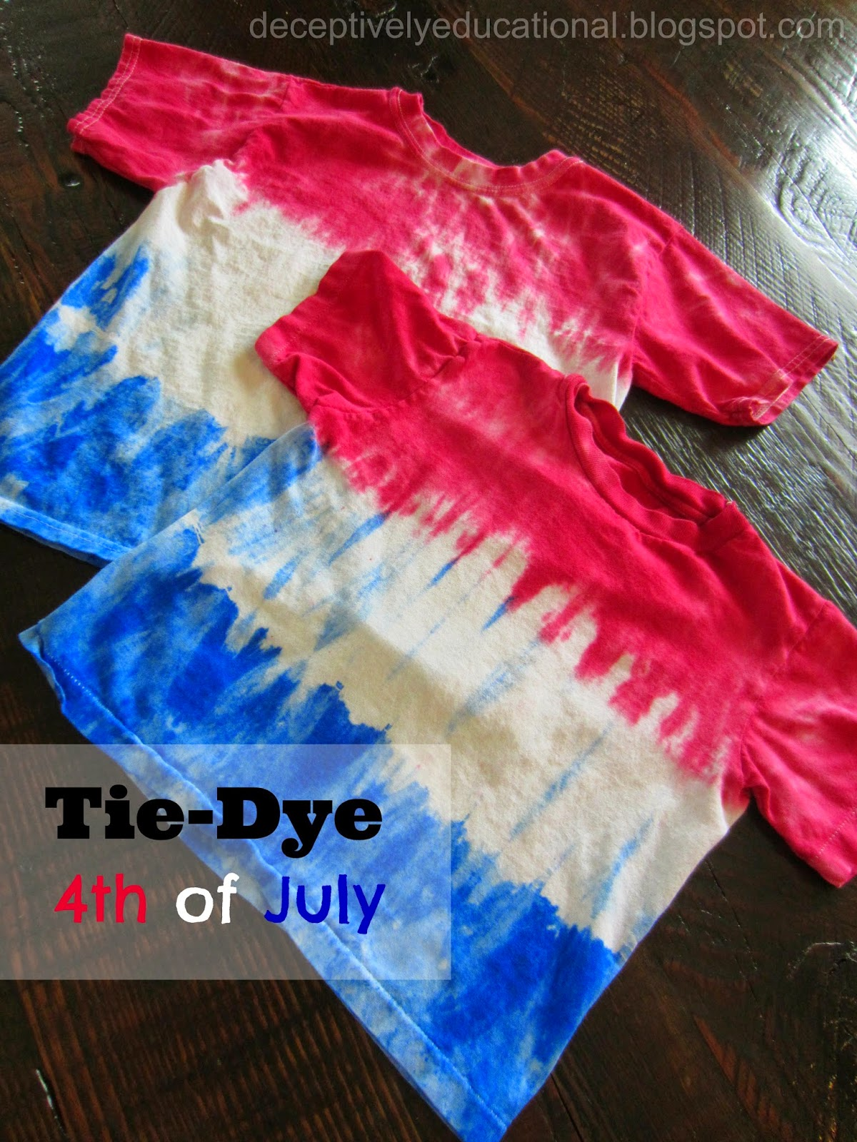 relentlessly deceptively educational tie dye fourth