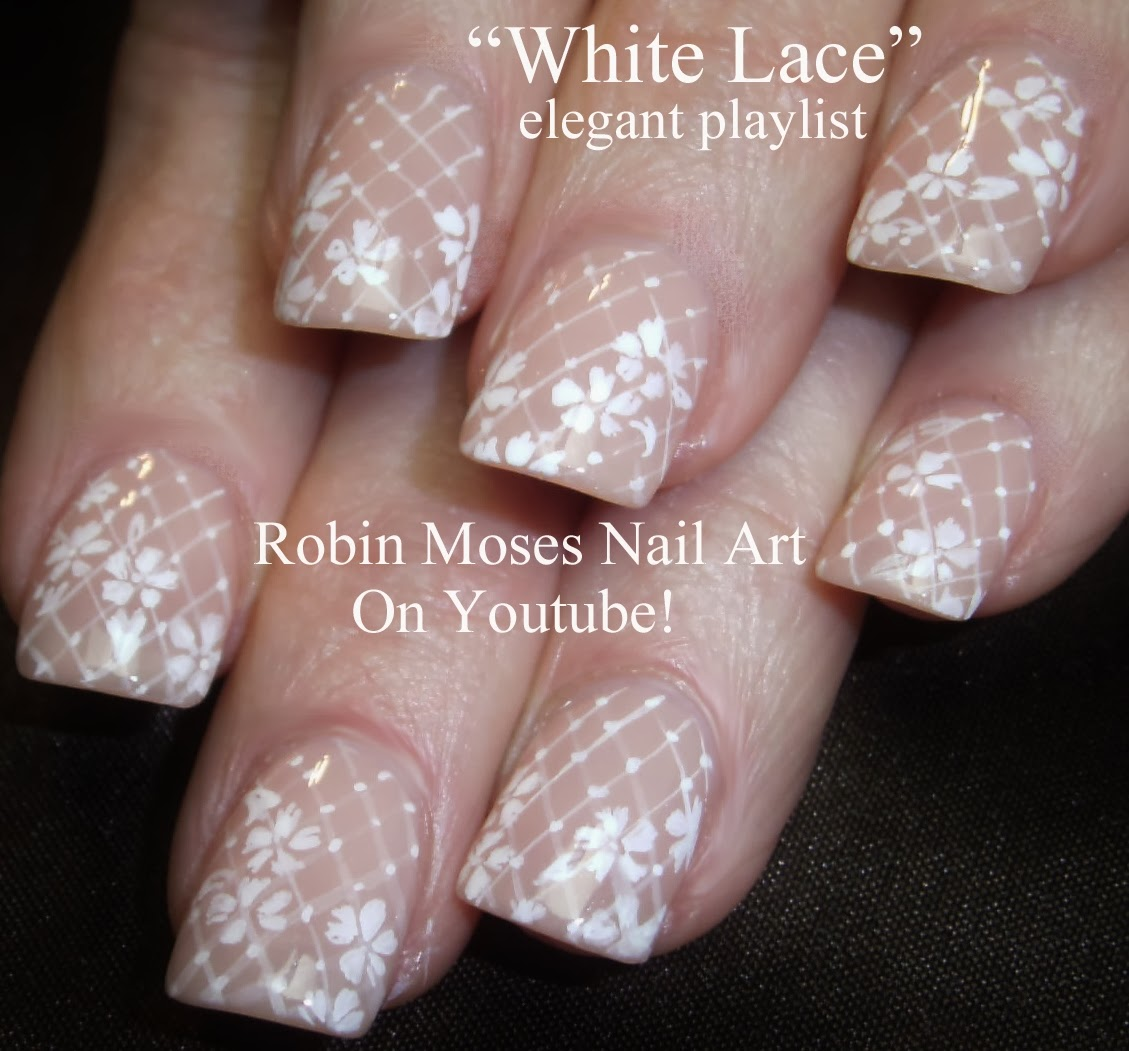 Lace Nails Wedding Valentine Nail Art Romantic Prom White Robin Moses