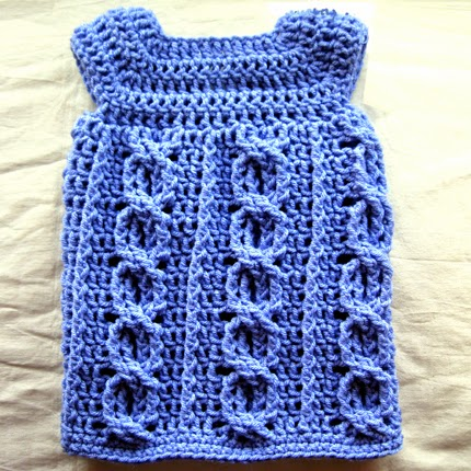 Cabled Love Dress - Free Pattern