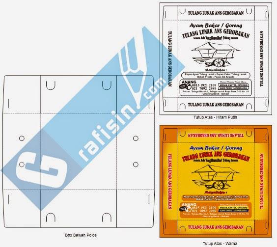 Desain Kemasan Pouch: Template Box Nasi Atau Kemasan