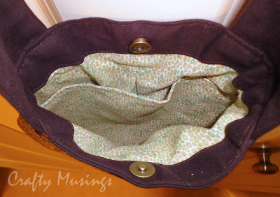 Teardrop Bag-- inside view