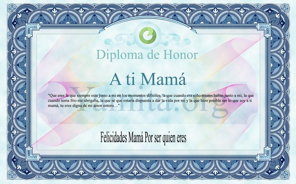 Felicidades Mamá por ser quien eres
