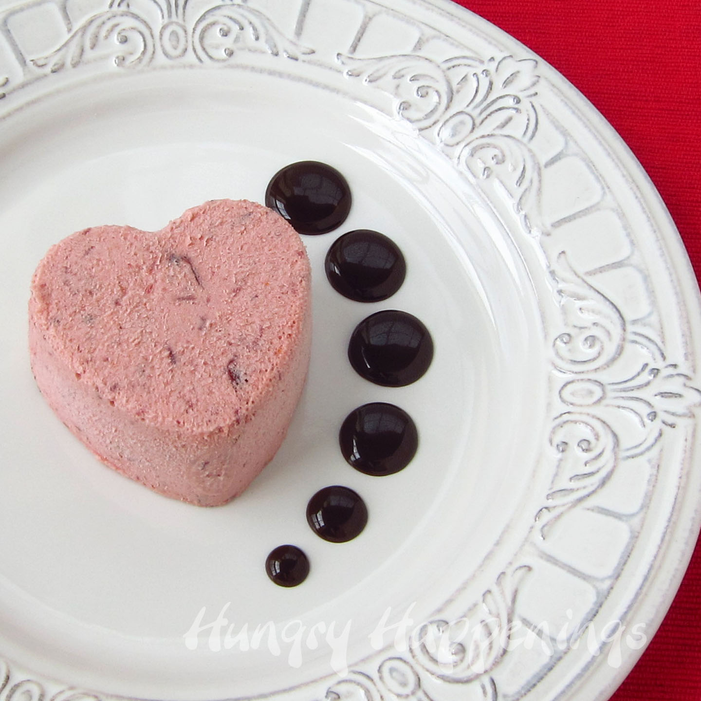 Cranberry orange semifreddo hearts elegant valentine 39 s day dessert hungry happenings - Desserts valentines day ...