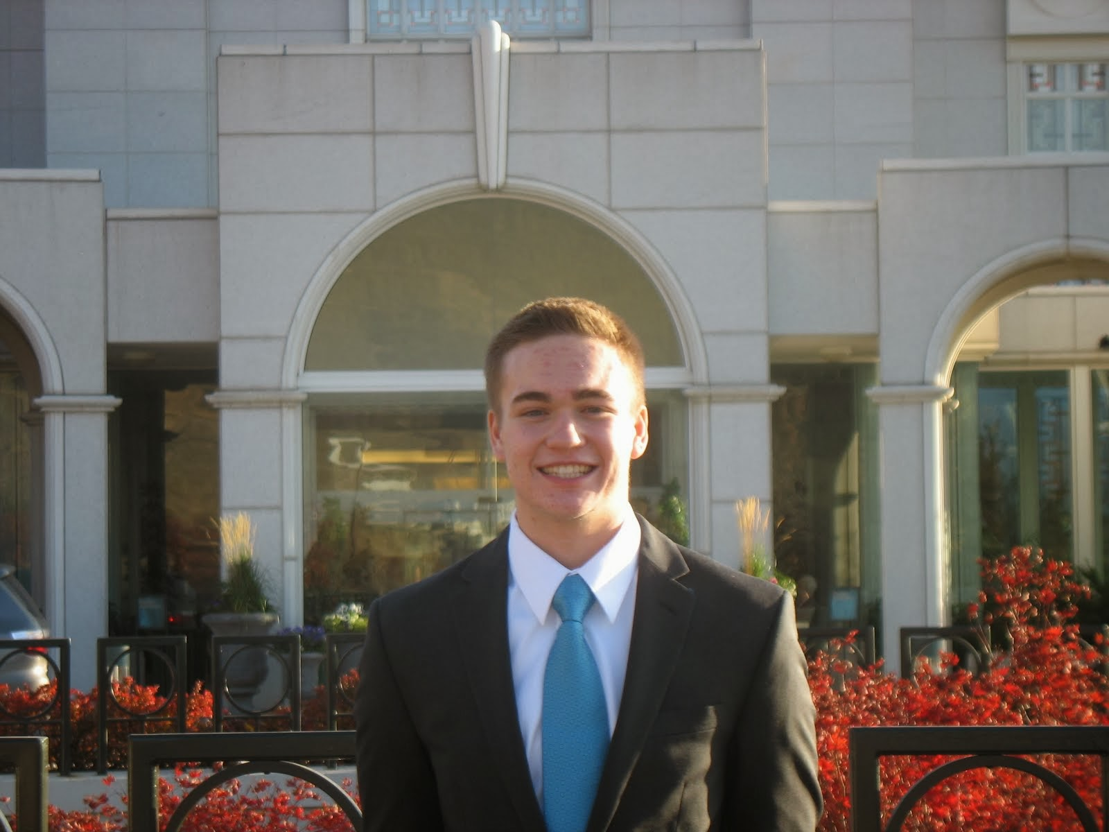 Elder Karl at the Bountiful, Utah Temple
