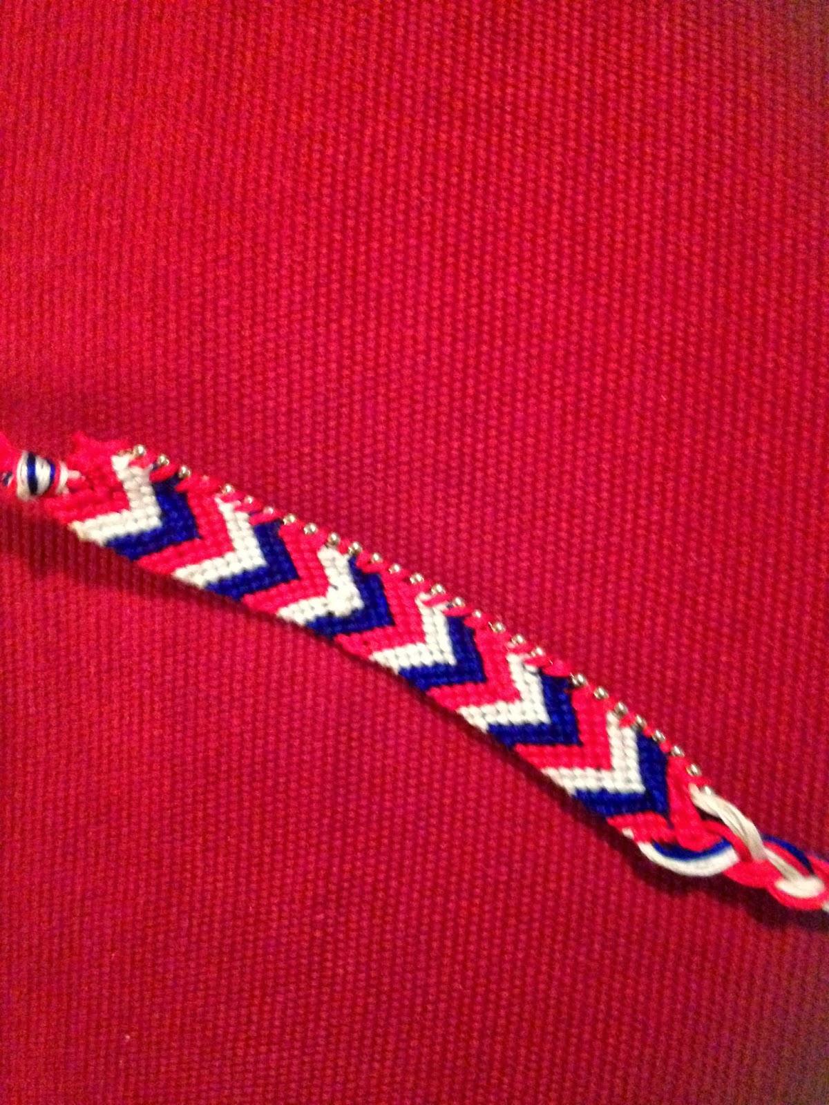 Ball chain on friendship bracelet