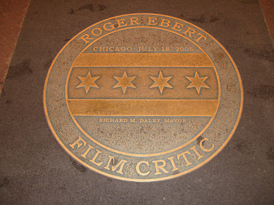 plaque honoring Roger Ebert
