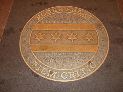plaque honoring Roger Ebert