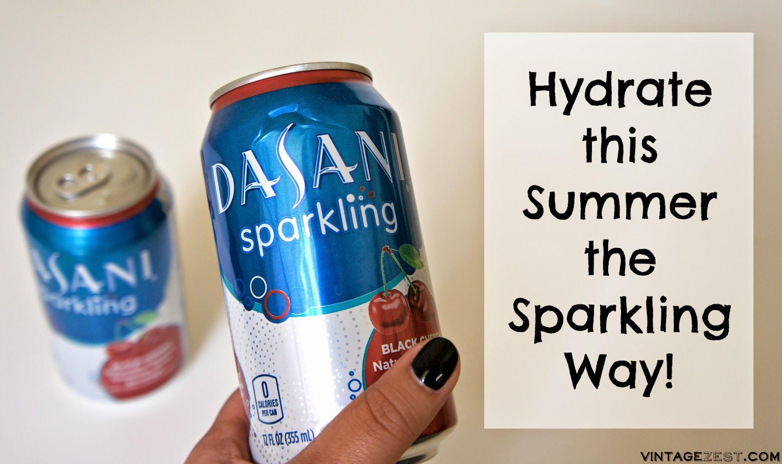 Hydrate this Summer the Sparkling Way on Diane's Vintage Zest! #DASANIsparkling