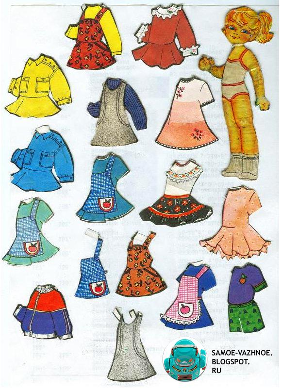 Бумажная кукла Аня Анюта старая советская из детства