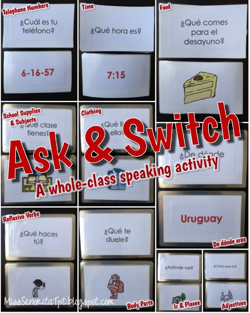 Ask & Switch speaking activity