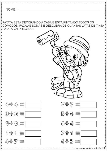 Adição Simples Patati-Patatá Dumbo Educação Infantil