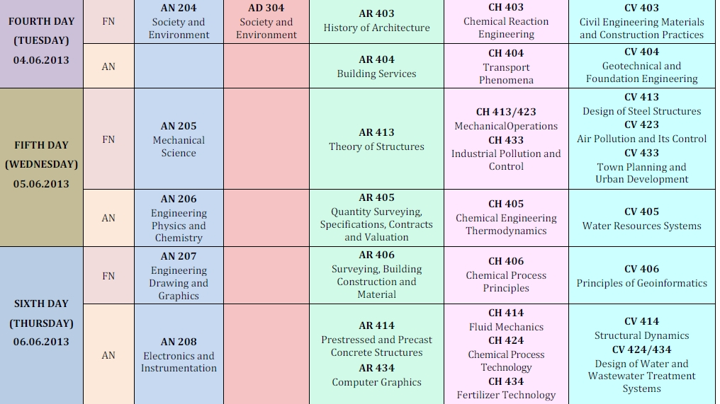 time table for amie exam summer 2013 amie exam summer 2013 timetable