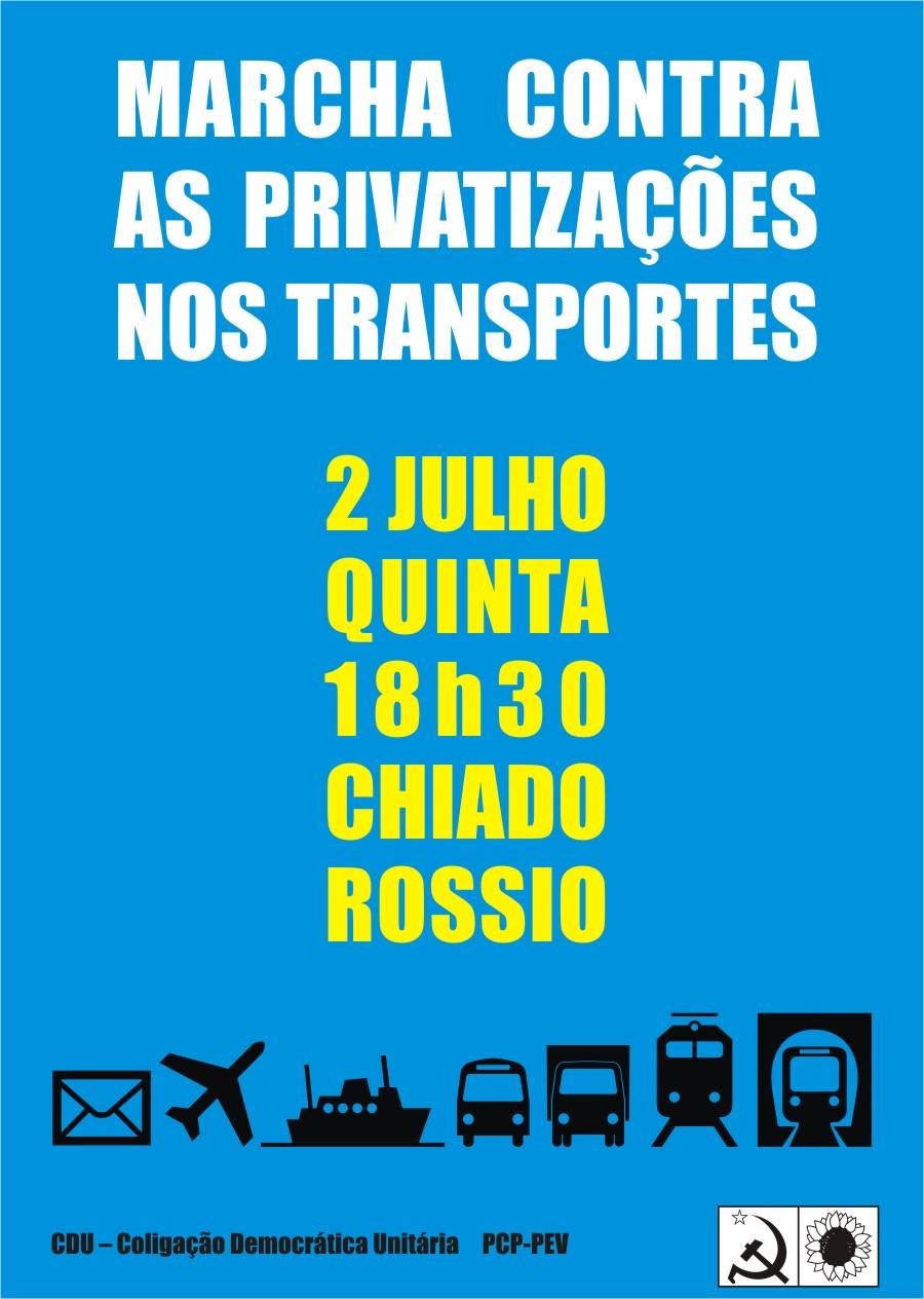 ,Marcha contra as privatizações nos transportes e de SOLIDARIEDADE COM O POVO GREGO