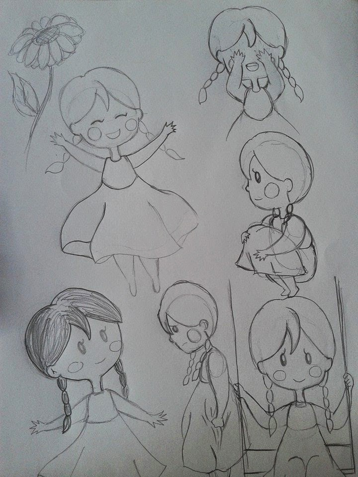 Character Design Page : Experimential design character page layout