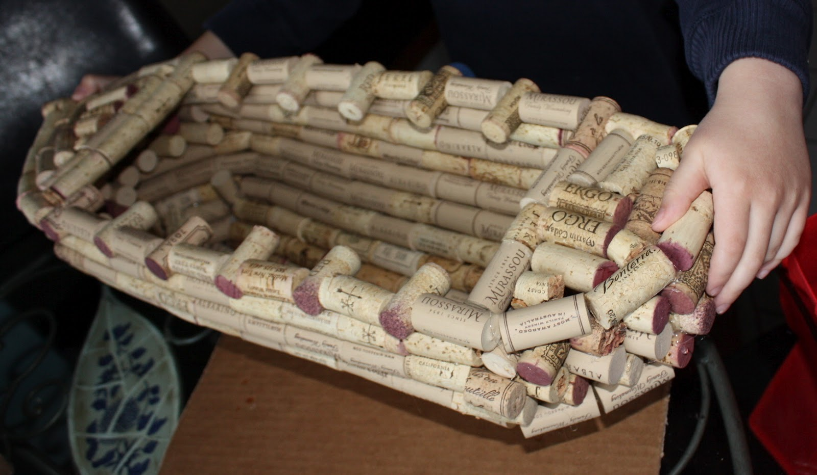 Titanic craft made out of wine corks eve of reduction for Crafts made with corks