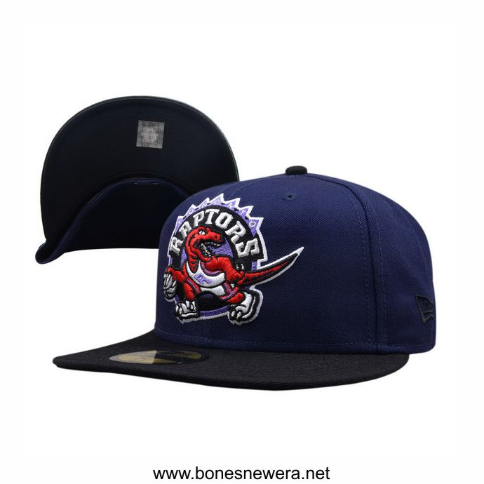 Boné New Era Toronto Raptors Roxo, Preto 59FIFTY