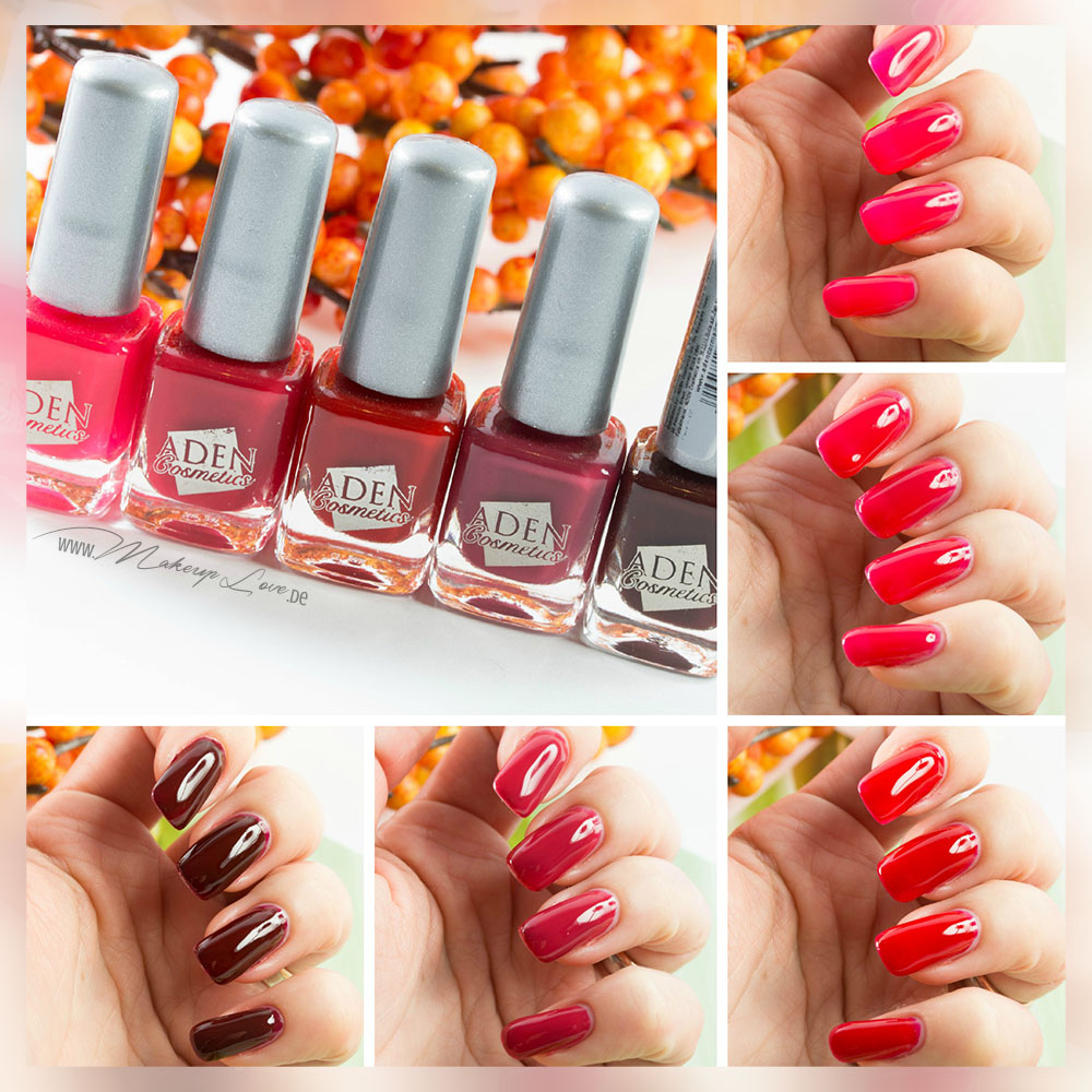 Lebenslust Nagellacke Red loves Pink Gundis Zambo Swatches