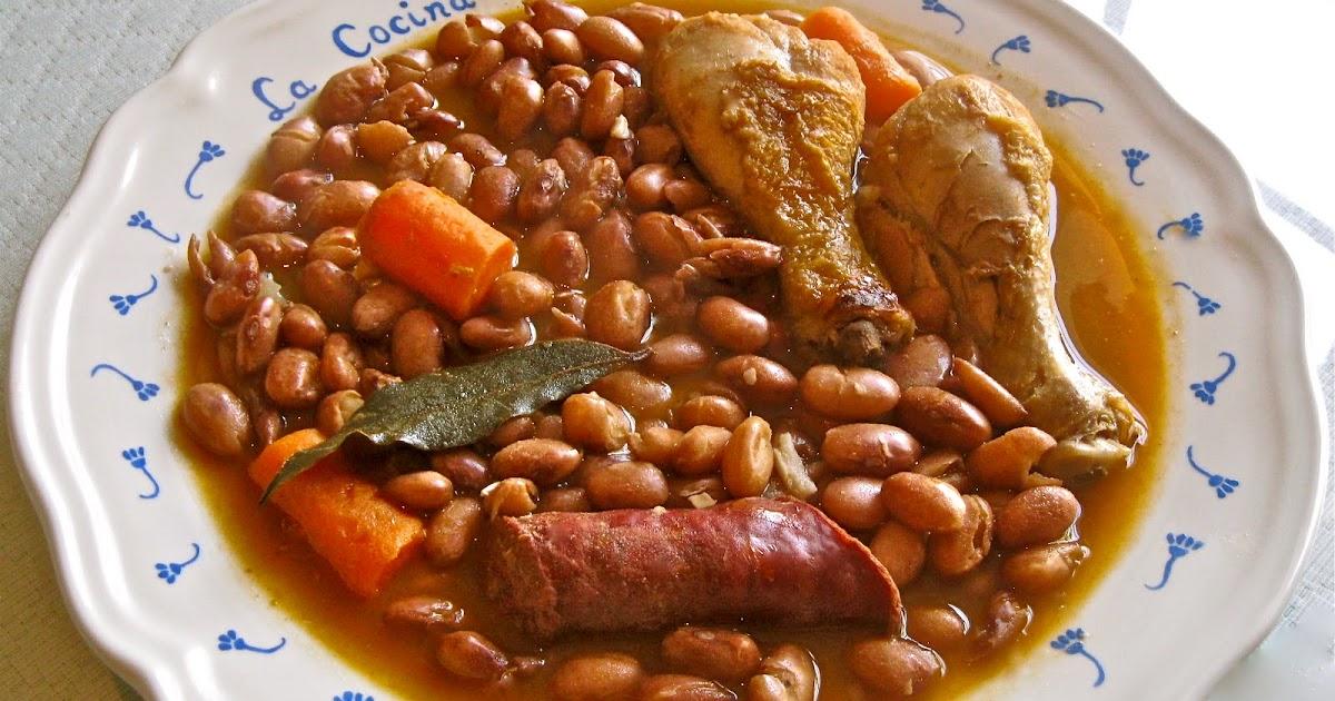 La cocina en el sur alubias pintas con chorizo y for Como cocinar alubias pintas
